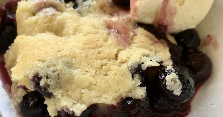 Bubbly Blueberry Cobbler (Hildegard Inspired)